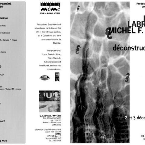 Montage des pages 1 et 4 du programme [2 décembre 1994]