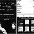 Montage des pages 1 et 8 du programme de «Nous perçons les oreilles» dans le cadre de l'événement «Collection de timbres»