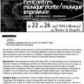 Conférence de Danielle Palardy Roger et Jean Derome dans le cadre de l'événement «Rencontre musique écrite/musique improvisée