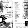 Montage des pages 1 et 3 du programme de «Musiques d'Automne»