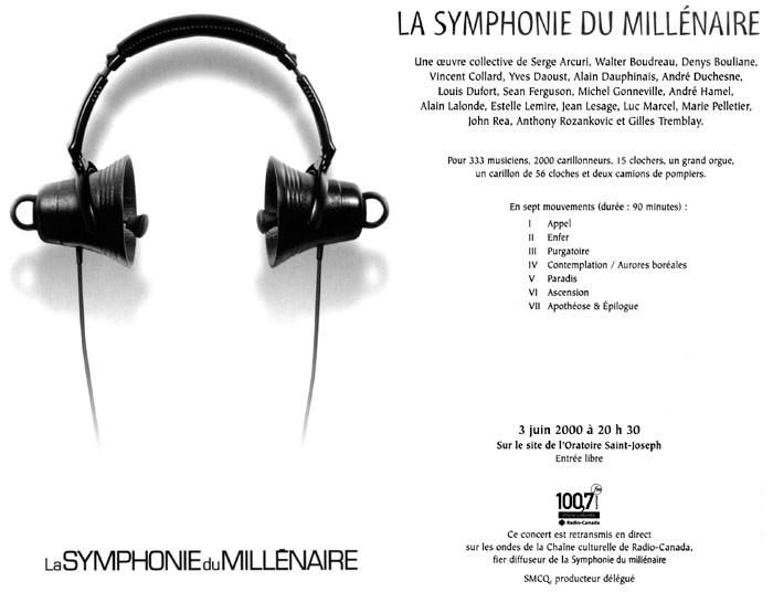 Extraits du programme officiel de la Symphonie du Millénaire [3 juin 2000]