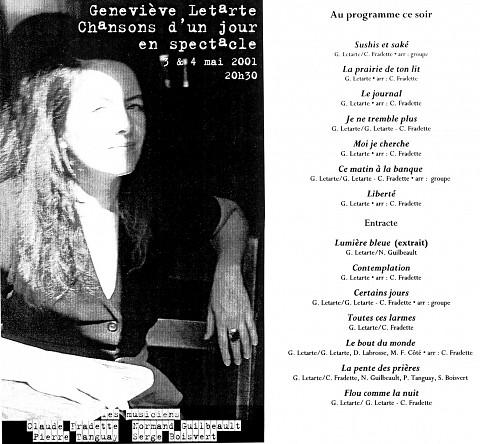 Montage des pages 1 et 2 du programme