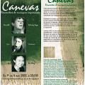 Montage des pages 1 et 6 du dépliant de l'événement Canevas
