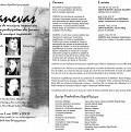Montage des pages 1, 2, et 3 du programme de l'événement Canevas