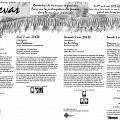 Montage des pages 4 et 5 du programme de l'événement Canevas