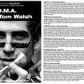 Montage des pages 1 et 2 du programme de l'événement NOMA et Tom Walsh [November 7, 2002]