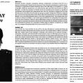 Montage des la pages 1, 2, et 3 du programme de l'événement «Fred Frith, Jean Derome et Pierre Tanguay en concert» dans le cadre de la série SuperOption