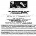 Communiqué de l'événement «Nouvelle Musique d'Hiver» [6 mars 2003]
