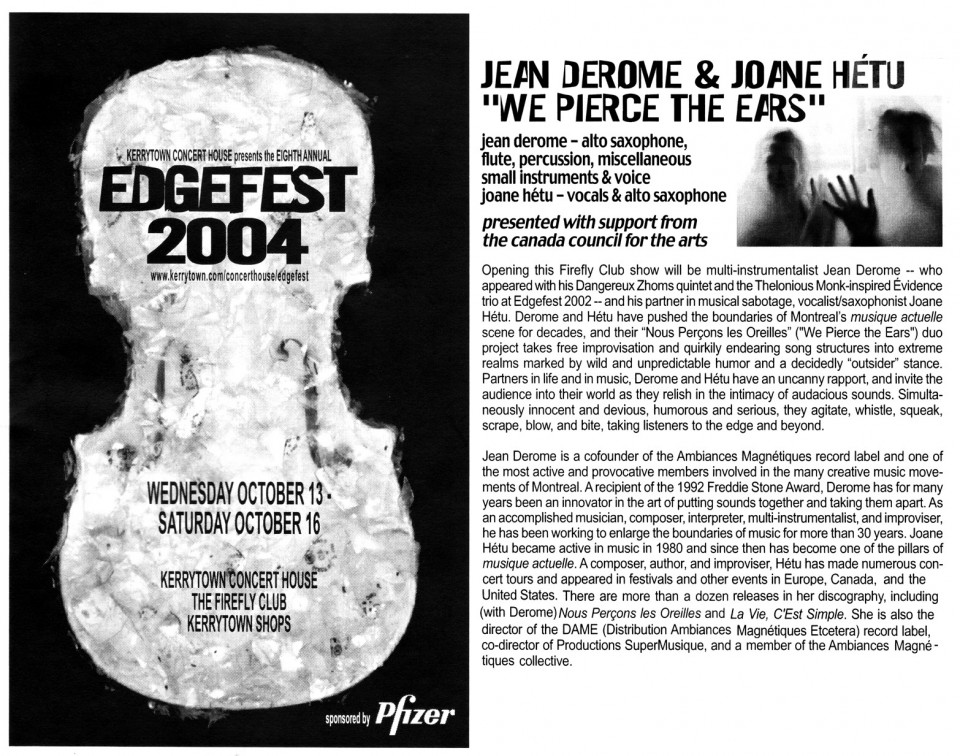 Extraits du programme [October 14, 2004]