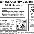 Feuillet promotionnel [7 septembre 2003]
