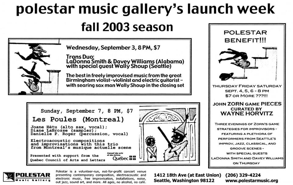 Feuillet promotionnel [September 7, 2003]