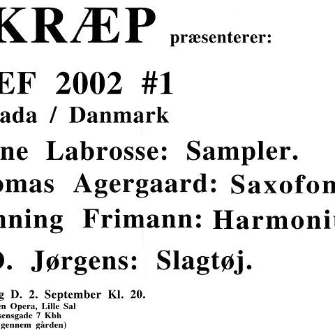 Feuillet promotionnel [31 août 2002]