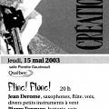Extraits du programme [15 mai 2003]