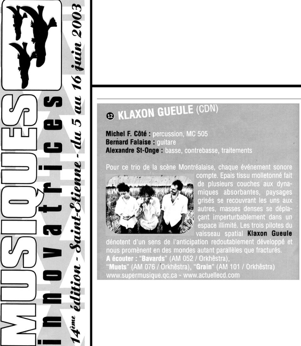 Extraits du programme