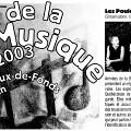 Extraits du programme [June 22, 2003]