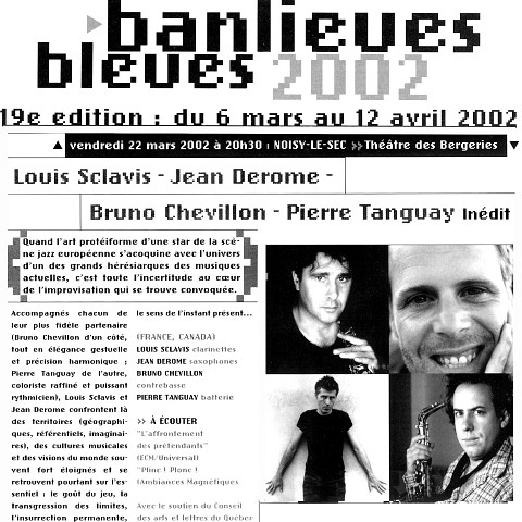 Extraits du programme [March 19, 2002]