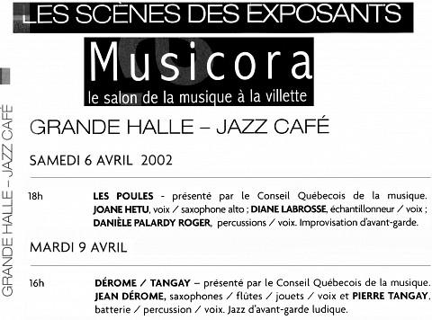 Extraits du programme [April 6, 2002]