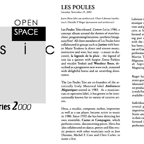 Extraits du programme [November 25, 2000]
