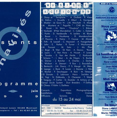 Extraits du programme [May 18, 1999]