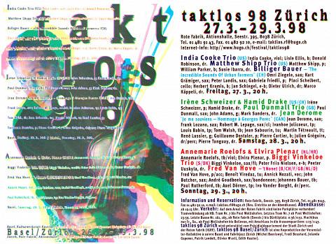 Programme du festival [25 mars 1998]