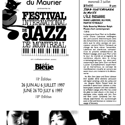 Extraits du programme [26 juin 1997]