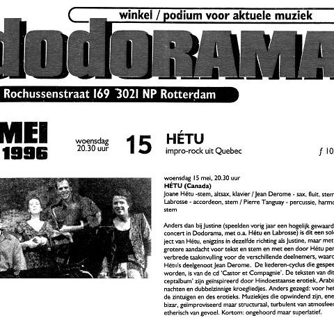 Extraits du programme [May 12, 1996]