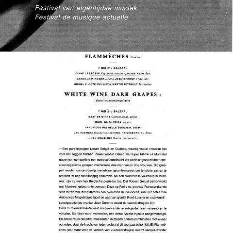 Extraits du programme du festival [7 mai 1996]