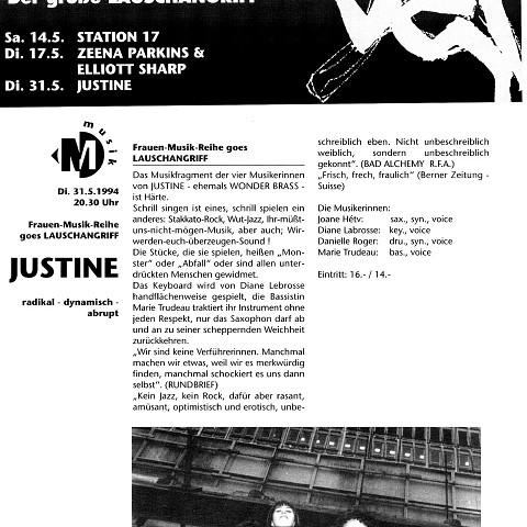 Extraits du programme [May 17, 1994]