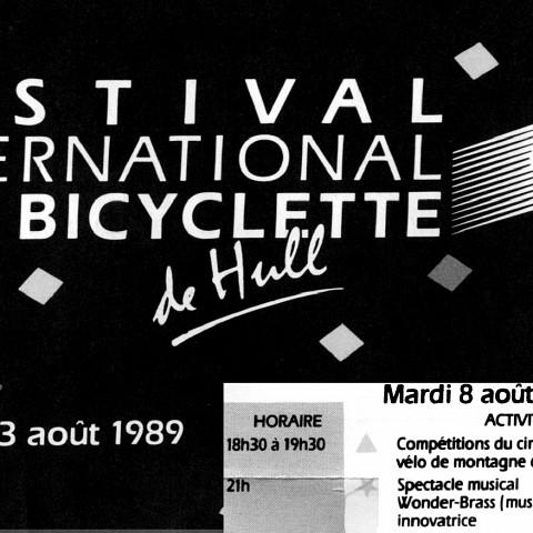 Extrait du programme du festival [August 5, 1989]