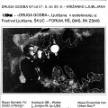 Page couverture du programme du festival Druga Godba