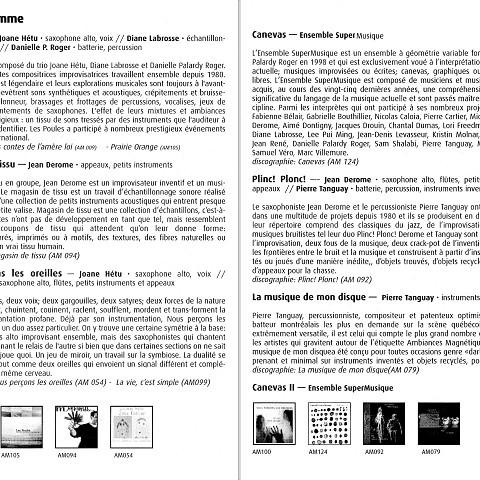 Page 2 et page 3 du programme [13 novembre 2005]