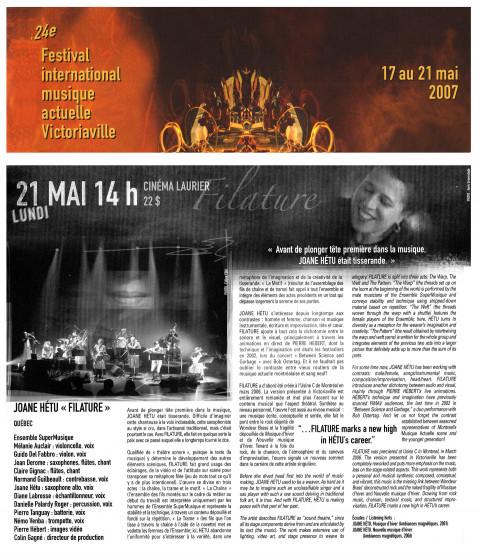 Extrait du programme [May 21, 2007]