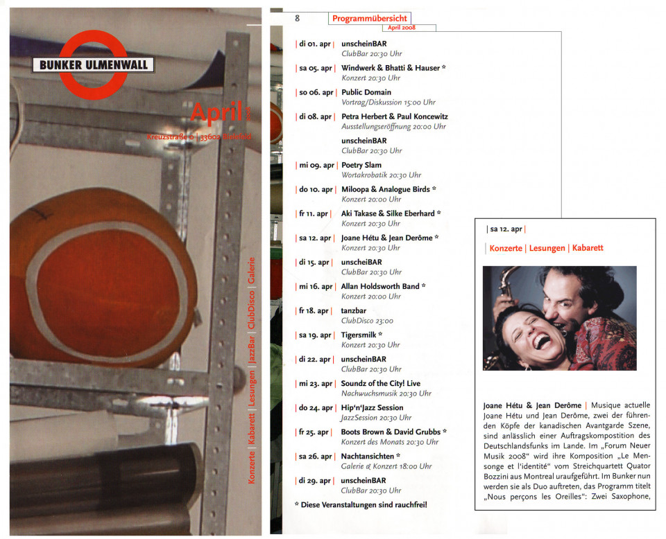 Extraits du programme de l'événement [May 12, 2008]