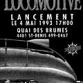 Affiche du lancement du disque «Locomotive» (AM 027) de André Duchesne