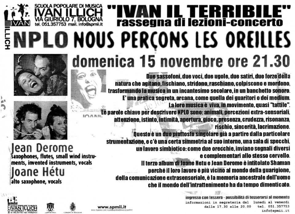 Feuillet [November 15, 2009]