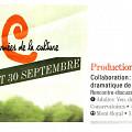 Information parue dans le programme de Les journées de la Culture 2012 [September 2012]