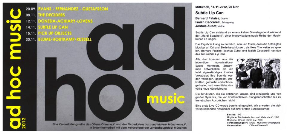 Programme [November 14, 2012]