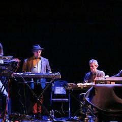 Quatuor de synthétiseurs analogiques désuets (QSAD) [Photograph: Andréa Cloutier, Montréal (Québec), March 7, 2015]