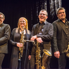 Quasar, Mathieu Leclair, Marie-Chantal Leclair, Jean-Marc Bouchard, André Leroux [Photo: Georges Dutil, 2014]