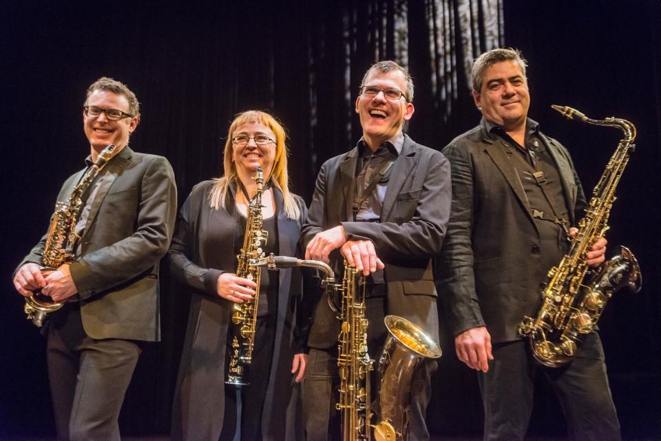 Quasar / Also pictured: Mathieu Leclair, Marie-Chantal Leclair, Jean-Marc Bouchard, André Leroux [Photo: Georges Dutil, 2014]