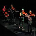 Bozzini Quartet performing the second movement of Le mensonge et l'identité by Jean Derome andJoane Hétu [Photograph: Bruno Massenet, Montréal (Québec), February 21, 2010]