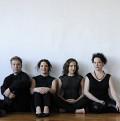 Bozzini Quartet / Also pictured: Clemens Merkel, Stéphanie Bozzini, Mira Benjamin, Isabelle Bozzini [Photograph: Michael Slobodian, Montréal (Québec), 2011]