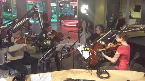 Le Quatuor Bozzini à CIBL [Montréal (Québec), 17 janvier 2014]