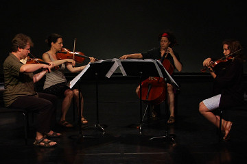 Quatuor Bozzini [Photo: Nathalie Bujold, juillet 2012]