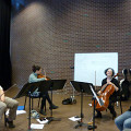 Bozzini Lab Vancouver 2013 — Quatuor Bozzini [Photo: Christine ML Lee, Vancouver (Colombie-Britannique, Canada), 4 juin 2013]