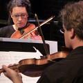 Quatuor Bozzini / Aussi sur la photo: Stéphanie Bozzini, Clemens Merkel / Bozzini Lab Vancouver 2013: Concert, Goldcorp Centre for the Arts – SFU, Vancouver (Colombie-Britannique, Canada) [Photo: Christine ML Lee, Vancouver (Colombie-Britannique, Canada), 11 juin 2013]