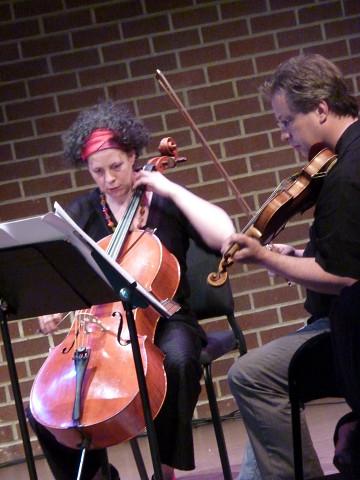 Quatuor Bozzini / Aussi sur la photo: Isabelle Bozzini, Clemens Merkel [Photo: Christine ML Lee, Vancouver (Colombie-Britannique, Canada), 11 juin 2013]