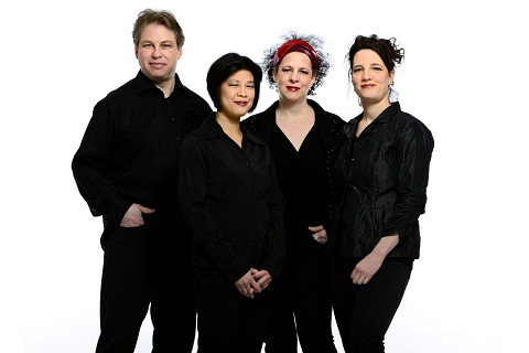 Quatuor Bozzini, Clemens Merkel, Alissa Cheung, Isabelle Bozzini, Stéphanie Bozzini [Photo: Michael Slobodian]