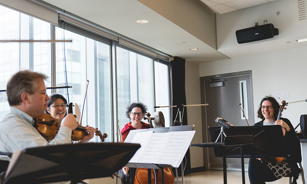 Quatuor Bozzini [Photo: R Thibodeau]
