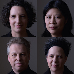 Bozzini Quartet, Stéphanie Bozzini, Alissa Cheung, Clemens Merkel, Isabelle Bozzini [Photo: Michael Slobodian, Montréal (Québec), January 20, 2020]